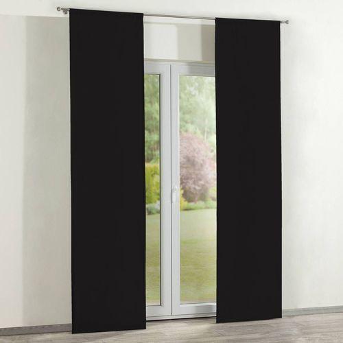 Dekoria zasłony panelowe 2 szt., black (czarny), 60 x 260 cm, cotton panama