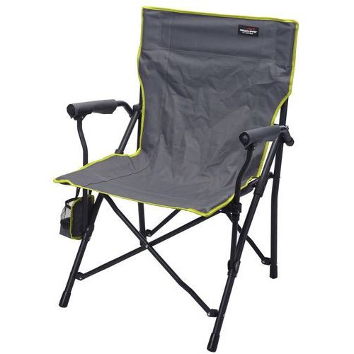 Składane krzesło wędkarskie, plażowe, ogrodowe z zielonym obszyciem