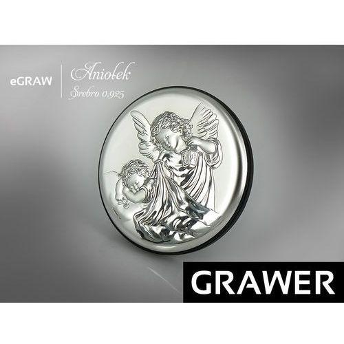 Obrazek srebrny grawer pamiątka chrztu na chrzest od producenta Alechrzest.pl