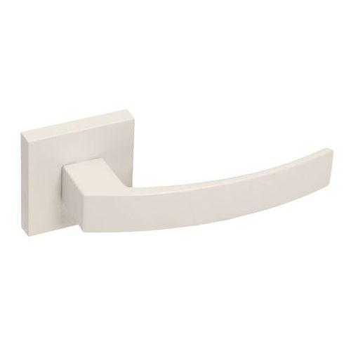 Gamet Klamka drzwiowa mistico kwadratowy szyld biały matowy (5901304722917)