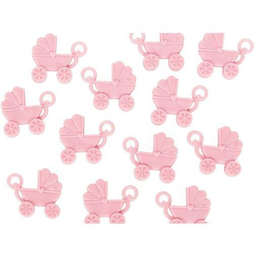 Amscan Plastikowe wózeczki różowe - 12 szt