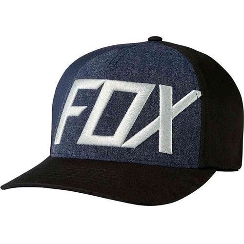 Fox Czapka z daszkiem  - blocked out flexfit black (001) rozmiar: l/xl