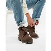 Levis Levi's hodges leather boot in dark brown - brown