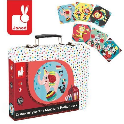 Zestaw artystyczny Magiczny brokat Cyrk - zabawki dla dzieci