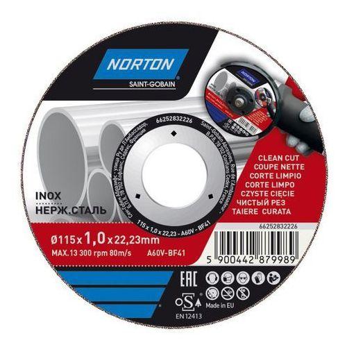 Tarcza korundowa do cięcia inox 41-115 x 1 0 x 22 2 mm marki Norton
