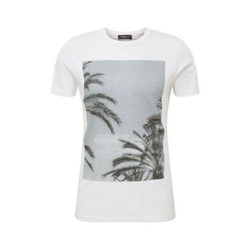 koszulka 'slhbree ss o-neck tee b ex' niebieski / szary / biały marki Selected homme
