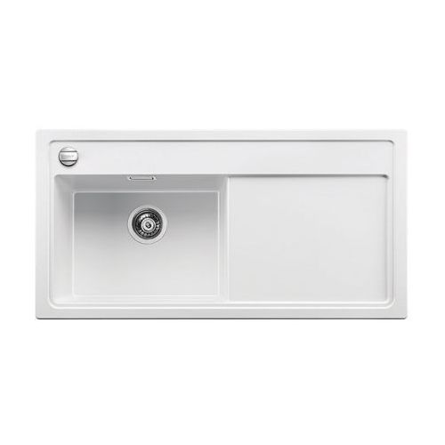 BLANCO ZENAR XL 6 S-F - Biały \ Lewa \ Deska szklana