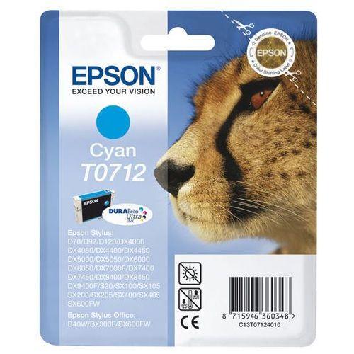 Oryginalny atrament  [t0712] cyan marki Epson