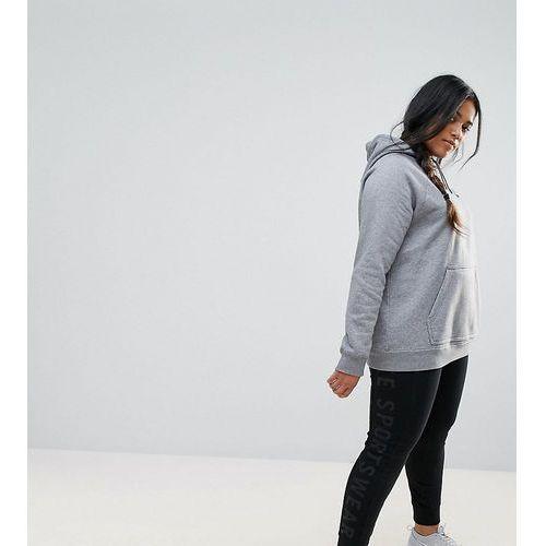 Nike Plus Premium Leggings With Tonal Logo In Black - Black, kolor czarny