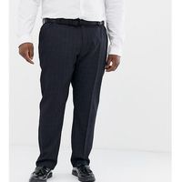 Burton Menswear Big & Tall trousers in navy check - Navy