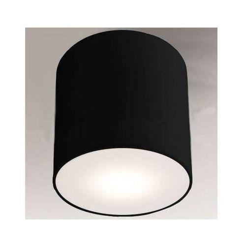 Downlight LAMPA sufitowa ZAMA 1129/GX53/CZ Shilo natynkowa OPRAWA okrągła czarny