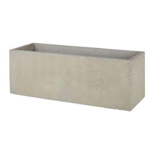 Donica efekt cementu 100 cm szara marki Verve