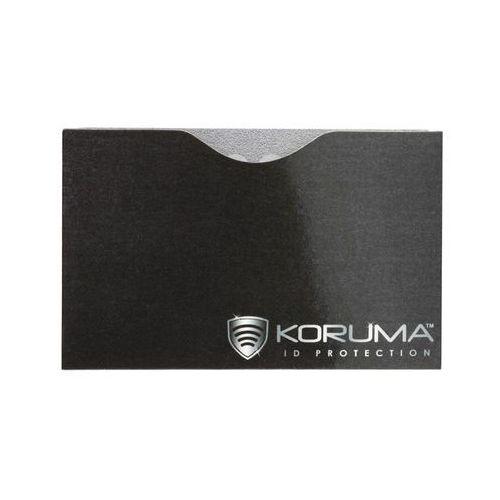 Ekranowane etui chroniące przed nieautoryzowanym odczytem kart zbliżeniowych - Poziome etui antykradzieżowe na karty zbliżeniowe (czarne, srebrne logo) - produkt z kategorii- Etui i pokrowce