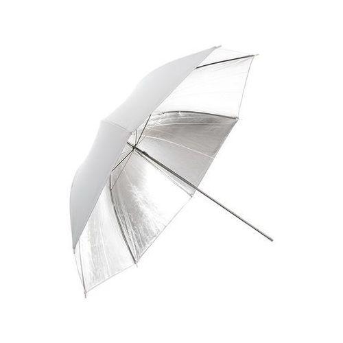 Parasolka biała, reflektor srebrny 84cm - sprawdź w wybranym sklepie