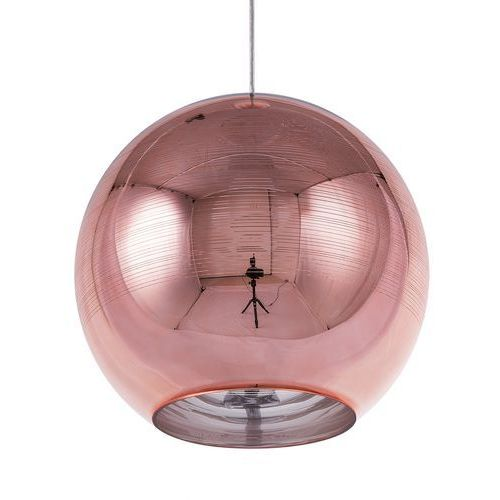 Lampa wisząca szklana miedziana asaro marki Beliani