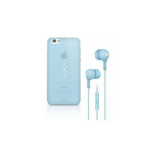 White diamonds Obudowa dla telefonów komórkowych crystal dla iphone 6 + słuchawki (wd-7007tri65) niebieski