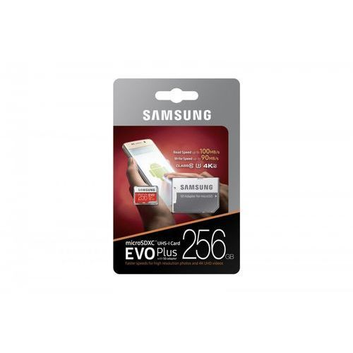 Samsung EVO Plus MB-MC256D 256GB MicroSDXC UHS-I Klasa 10 pamięć flash, MB-MC256GA/EU