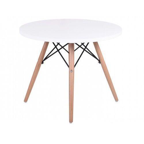 Krzeslaihokery Stolik kawowy biały 60 cm