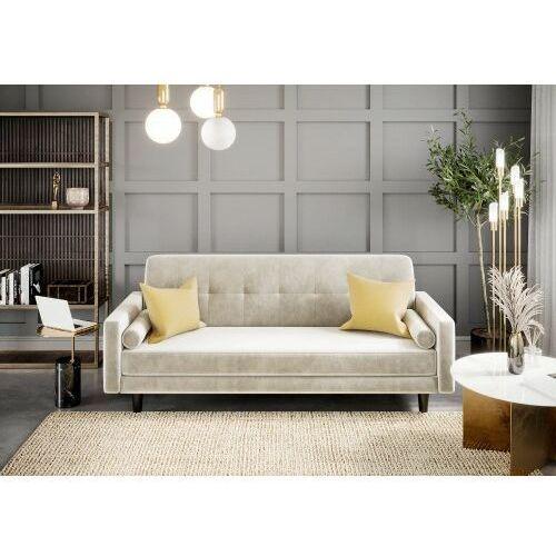 Sofa kanapa wersalka siena welur beżowa rozkładana z funkcją spania dostawa 0zł marki Big meble