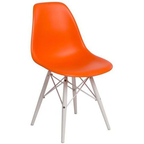 Krzesło p016w pp białe nogi (pomarańczowe) d2 marki D2.design