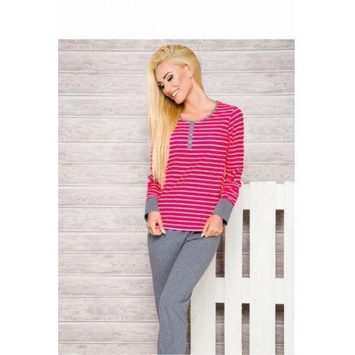 Piżama damska model lisa 2120 aw/17 k1 pink paski marki Taro