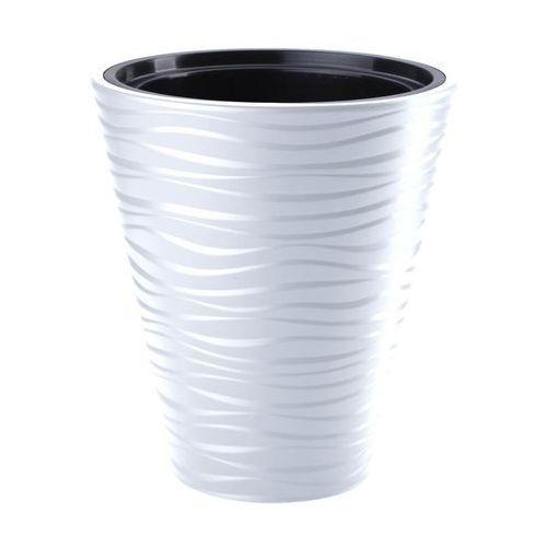 Doniczka plastikowa 40 cm biała sahara marki Form-plastic