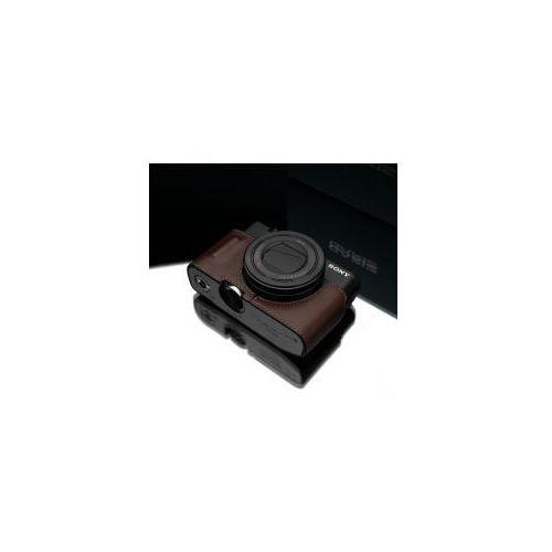 Halfcase z naturalnej skóry w kolorze brązowym dedykowany do Sony RX100M3/M4/M5, XS-RX100M3BR