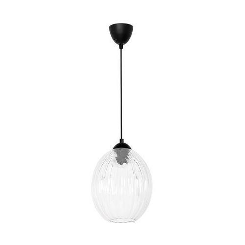 Lampa wisząca Luminex Single Glass 6312 lampa sufitowa 1x60W E27 przezroczysty / czarny