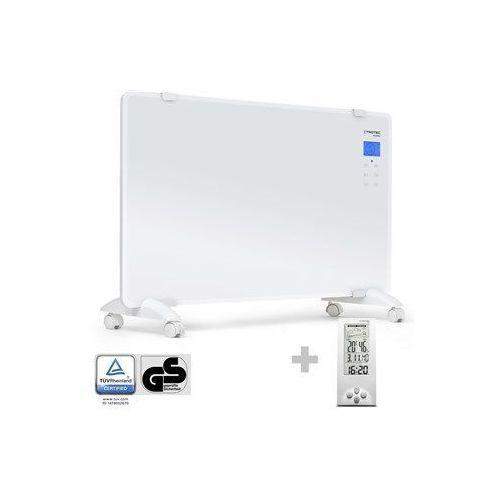 Designerski konwektor szklany tch 2010 e + termohigrometr stacja pogodowa bz06 marki Trotec