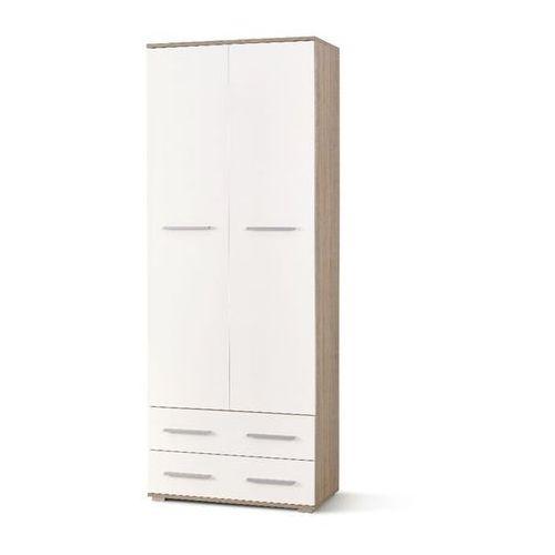 Style furniture Puno regał 2 dąb sonoma/biały wysoki połsyk