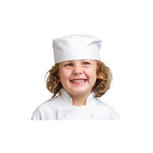 Dziecięca krótka czapka kucharska   biała, kolor biały