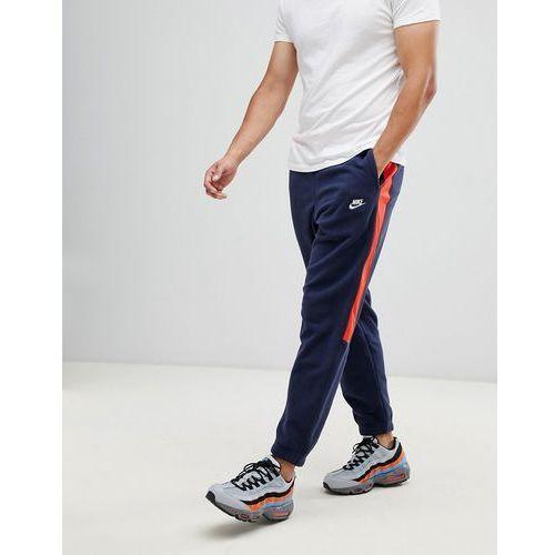 Nike Borg Joggers With Side Stripe In Navy 929126-451 - Navy, w 6 rozmiarach