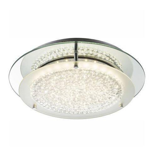 Globo Plafon lampa oprawa sufitowa froo i 1x18w led chrom/przeźroczysty 49299-18 (9007371328420)