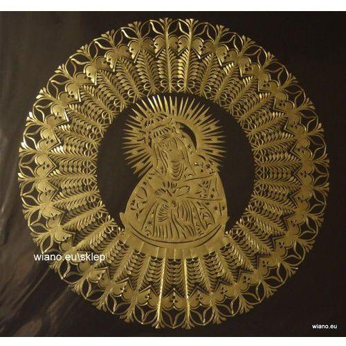 Wycinanka ludowa, gwiazda kurpiowska z matką boską ostrobramską, śred. 34 cm (wb) marki Twórczyni ludowa