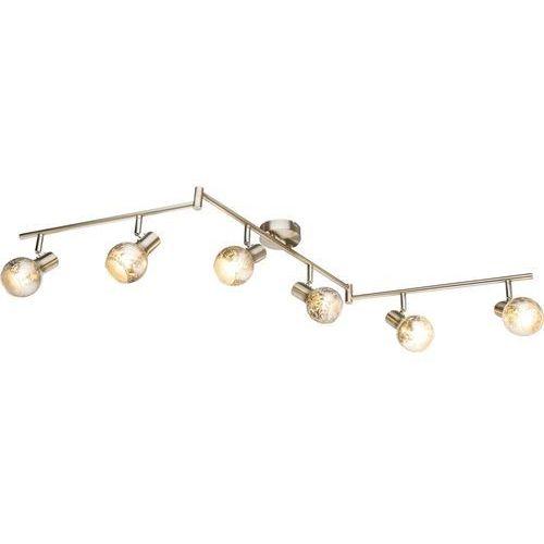 Listwa Globo Zacate 54840-6 lampa sufitowa spot 6x25W E14 nikiel mat, 54840-6