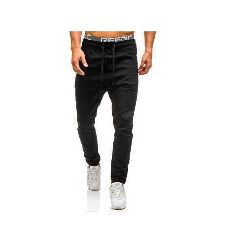 Spodnie joggery męskie czarne denley 0803 marki Athletic
