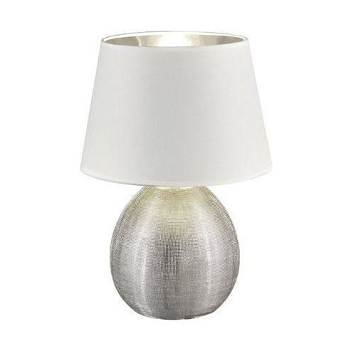 Reality luxor lampa stołowa srebrny, 1-punktowy - dworek - obszar wewnętrzny - luxor - czas dostawy: od 3-6 dni roboczych