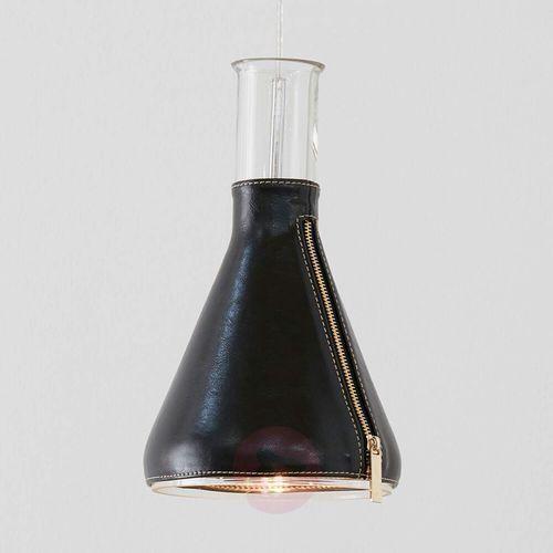 Lampa wisząca ZIP pendant clear glass/black lether 106805 - Markslojd – Rabat w koszyku, 106805