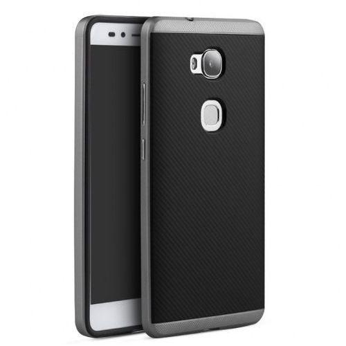 Etui iPaky Premium Hybrid Huawei Honor 5X Grey + Szkło, kolor szary