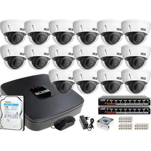 16x BCS-DMIP3201IR-E-V zestaw monitoringu BCS-NVR16015ME-II Dysk 1TB Akcesoria, ZM113409