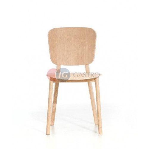 Krzesło bez podłokietnika buk a-4281 lofb marki Paged