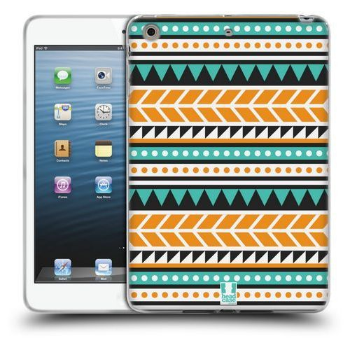Head case Etui silikonowe na tablet - aztec patterns orange and green