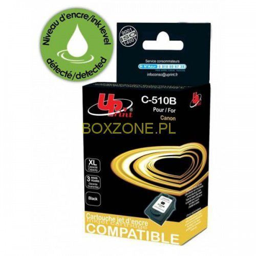 kompatybilny ink z pg510bk, black, 12ml, c-510b, dla canon mp240, 260, 270, 480 marki Uprint