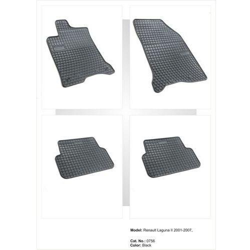Dywaniki gumowe czarne z kompletem stoperów - renault laguna (ii) 2001-2007 marki Frogum