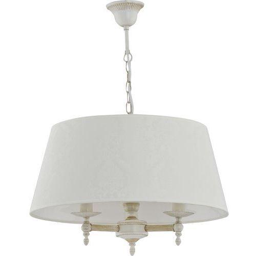 Lampa wisząca Alfa Roksana 18534 zwis żyrandol 3x40W E14 biały, shabby chic