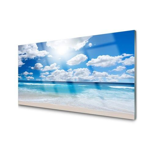 Tulup.pl Obraz akrylowy morze plaża chmury krajobraz