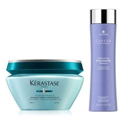 Kerastase force architecte mask 200ml + alterna caviar restructuring bond repair shampoo 250ml marki Kérastase