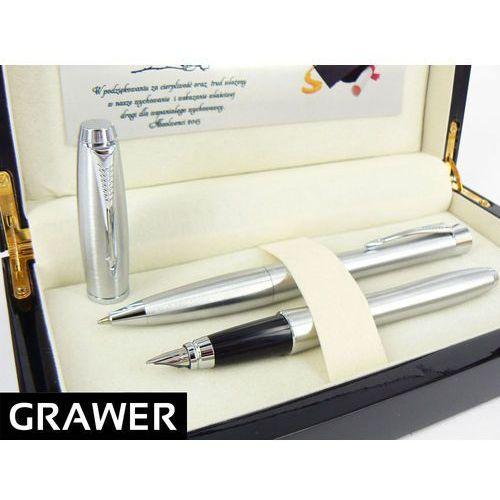 Ekskluzywny zestaw  urban metallic ct długopis i pióro wieczne grawer dedykacja drewniane pudełko marki Parker
