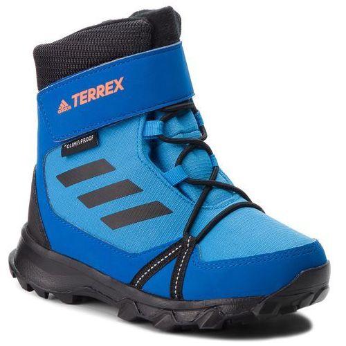 Śniegowce adidas - Terrex Snow Cf Cp Cw K AC7966 Brblue/Cblack/Hireor, kolor niebieski