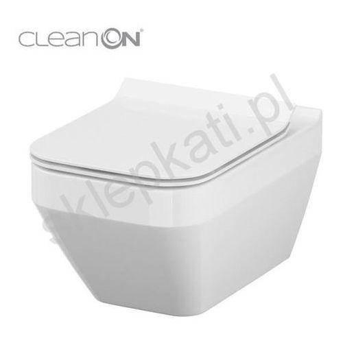 Cersanit miska wisząca crea clean on prostokątna + deska slim duroplast wolnoopadająca k114-016+k97-0178 (5902115735417)